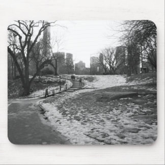Black White NY Central Park nr 1 Mouse Pad