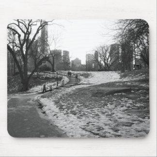 Black White NY Central Park nr 1 Mouse Pad