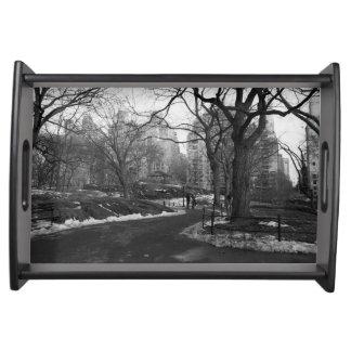Black White NY Central Park Food Trays