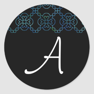 Black & White Ocean Cross Sticker