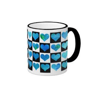 Black & White Ocean Hearts Mug