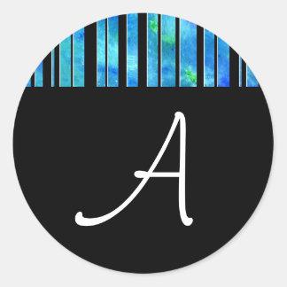 Black & White Ocean Lines Sticker