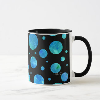 Black & White Ocean Polka Dots Mug