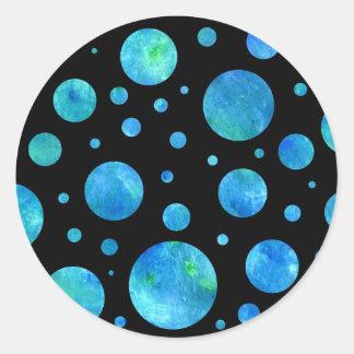 Black & White Ocean Polka Dots Sticker