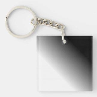 Black White Ombre Keychain