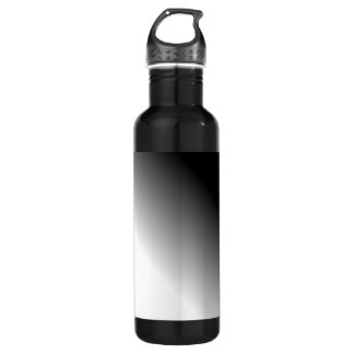 Black White Ombre Stainless Steel Water Bottle