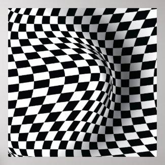 Black white op art optical illusion abstract print zazzle_print