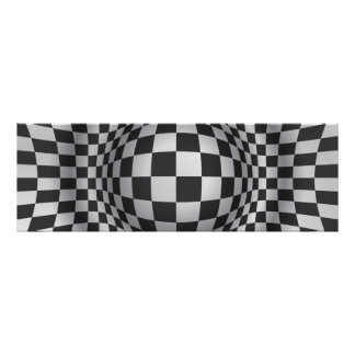 Black white op art optical illusion print/poster poster