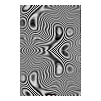 Black & White Op Art Optical Illusion Wall Poster