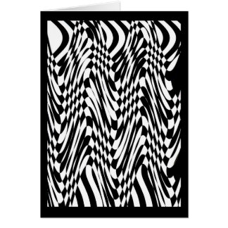Black White opart Greeting Cards