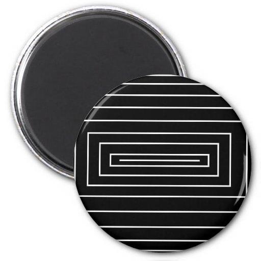Black & White Optical Effect Refrigerator Magnets