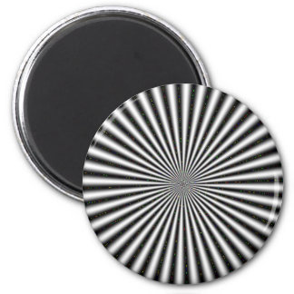 Black & White Optical Illusion 2 Inch Round Magnet