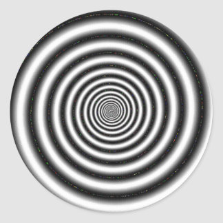 Black & White Optical Illusion Classic Round Sticker