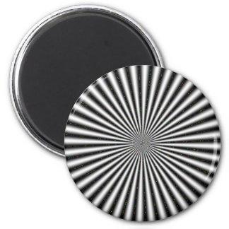 Black & White Optical Illusion Fridge Magnets