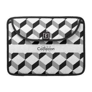 Black White Optical Illusion Personalized Design MacBook Pro Sleeve