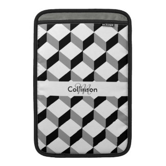 Black White Optical Illusion Personalized Design Sleeve For MacBook Air