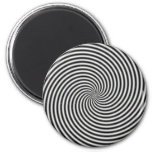 Black & White Optical Illusion Spiral Magnet