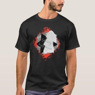 Black White Orange Ghostly Impression Ceiling T-Shirt