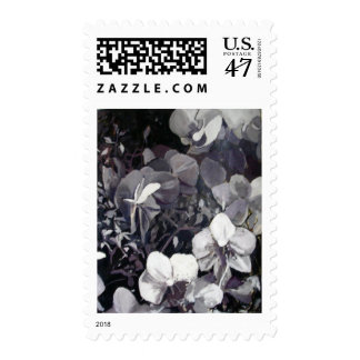 Black White Orchid Postage Stamps