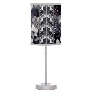 Black White Orchid Stripes Rice Paper Hanging Lamp