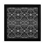 Black & White Ornate Pixel Design Trinket Boxes