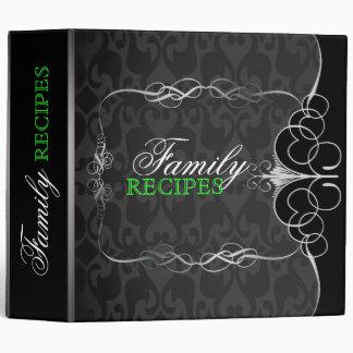 Black & White Ornate Vintage Frame Binder