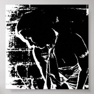 Black & White outline Poster