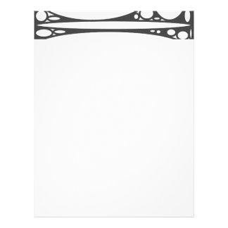 Black white ovals border letterhead