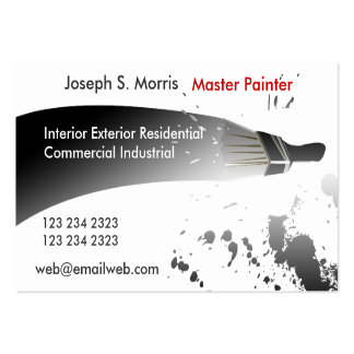 Black White  Paint for   House Painters Large Business Cards (Pack Of 100)