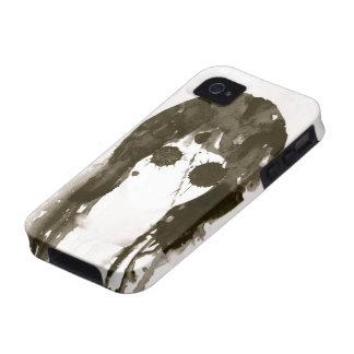 Black&White Paint Splatter Ghost iPhone 4 Case