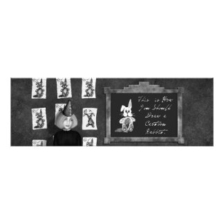 Black & White Painting of Art Student in Classroom Photo Print