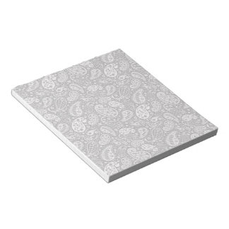 Black & White Paisley Floral Notepad