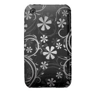 Black & White Paisley iPhone 3 Case-Mate Cases