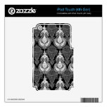 Black White paisley pattern Decal For iPod Touch 4G