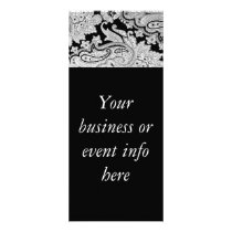 Black & White Paisley Rack Card Invitations