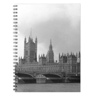 Black White Palace of Westminster Notebook