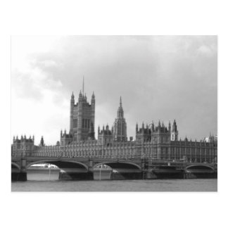 Black & White Palace of Westminster Postcard