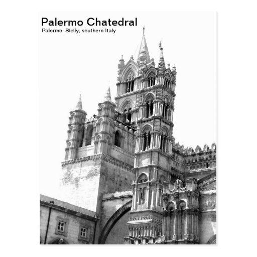 Black & White Palermo Chatedral Postcard