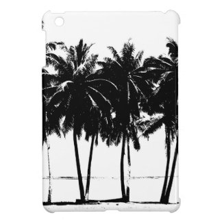 Black White Palm Trees Silhouette iPad Mini Covers