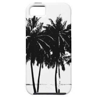 Black White Palm Trees Silhouette iPhone SE/5/5s Case