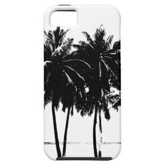 Black White Palm Trees Silhouette iPhone SE/5/5s Case