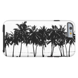Black White Palm Trees Silhouette Tough iPhone 6 Case