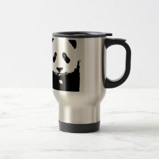 Black & White Panda 15 Oz Stainless Steel Travel Mug