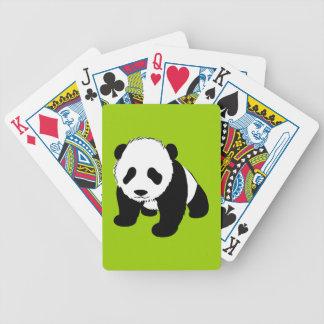 BLACK WHITE PANDA BEAR ENVIRONMENT ANIMALS WILD BICYCLE PLAYING CARDS