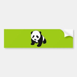 BLACK WHITE PANDA BEAR ENVIRONMENT ANIMALS WILD CAR BUMPER STICKER