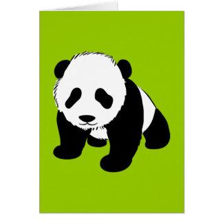BLACK WHITE PANDA BEAR ENVIRONMENT ANIMALS WILD GREETING CARDS
