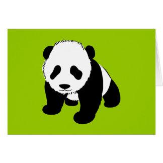 BLACK WHITE PANDA BEAR ENVIRONMENT ANIMALS WILD CARDS