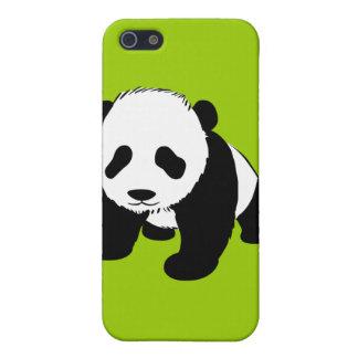 BLACK WHITE PANDA BEAR ENVIRONMENT ANIMALS WILD iPhone 5 COVERS