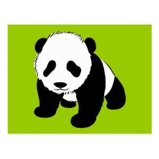 BLACK WHITE PANDA BEAR ENVIRONMENT ANIMALS WILD POST CARDS
