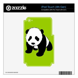 BLACK WHITE PANDA BEAR ENVIRONMENT ANIMALS WILD iPod TOUCH 4G SKINS